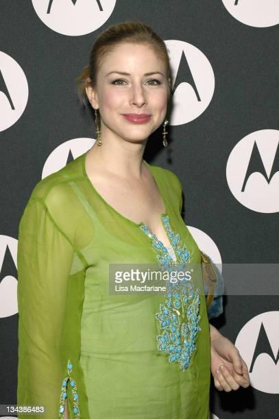 Diane Neal during Maria Sharapova's 18th Birthday Celebration Hosted by Motorola at Hiro Ballroom in New York City New York United States