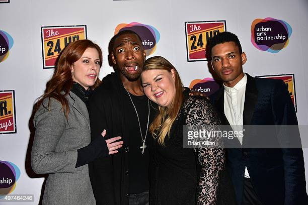 Diane Neal Jay Pharoah Ashley Fink and Devon Mojica attend the 2015 24 Hour Plays On Broadway Gala at American Airlines Theatre on November 16 2015...