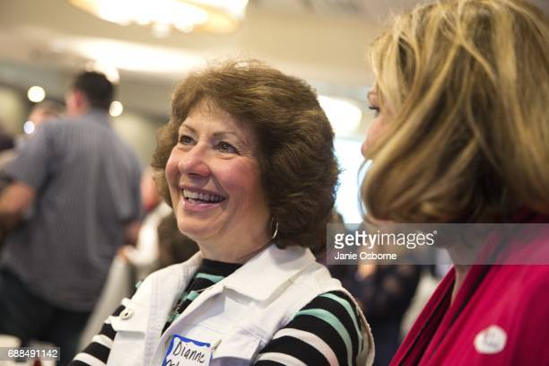 Diane Ostermiller reacts as Republican Greg Giangorte's lead in announced in Montana's special House election against Democrat Rob Quist at the...