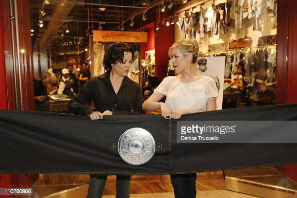 Diane Padoven and Kristin Cavallari during Levi's Store Opening February 16 2006 at Levis Store in The Fashion Show Mall in Las Vegas Nevada United...