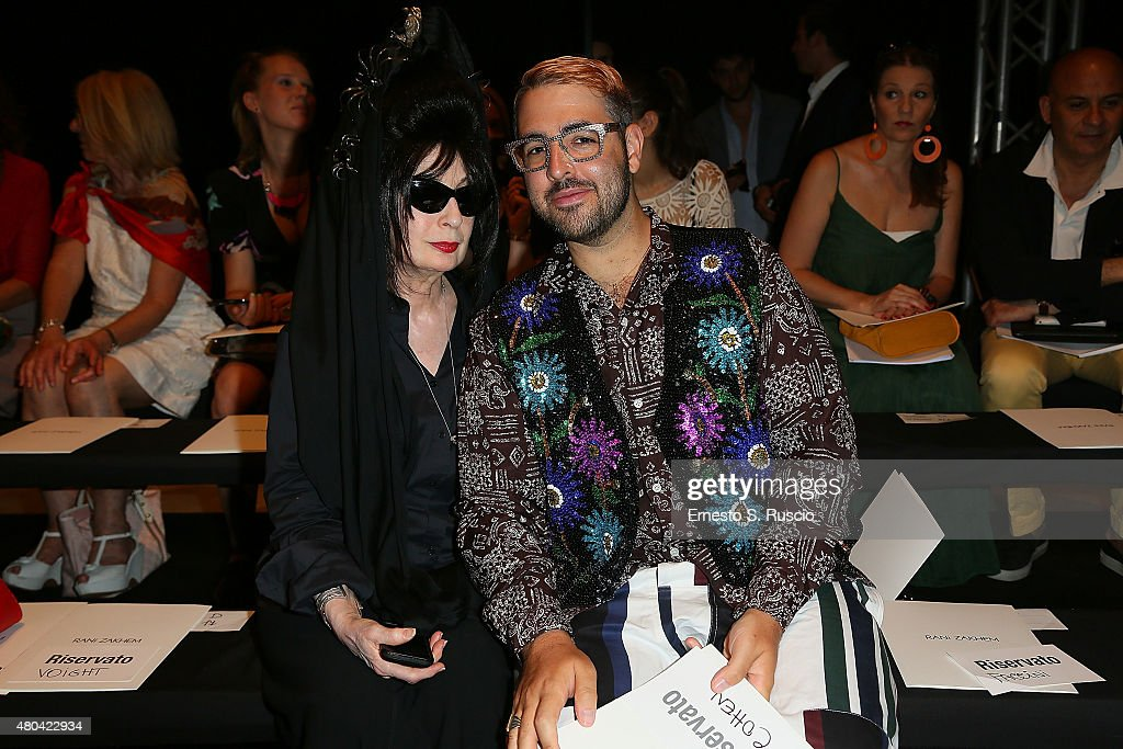 <a gi-track='captionPersonalityLinkClicked' href=/galleries/search?phrase=Diane+Pernet&family=editorial&specificpeople=4347865 ng-click='$event.stopPropagation()'>Diane Pernet</a> and Ari Seth Cohen attend the Rani Zakhem fashion show as part of AltaRoma AltaModa Fashion Week Fall/Winter 2015/16 at Palazzo Delle Esposizioni on July 11, 2015 in Rome, Italy.