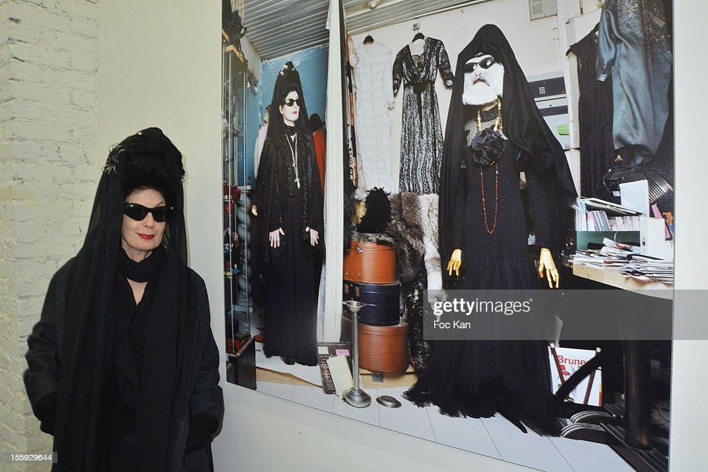 Diane Pernet attends 'Les Parisiennes' - Photo Exhibition Preview at Galerie Clementine De La Feronniere on November 8, 2012 in Paris, France.