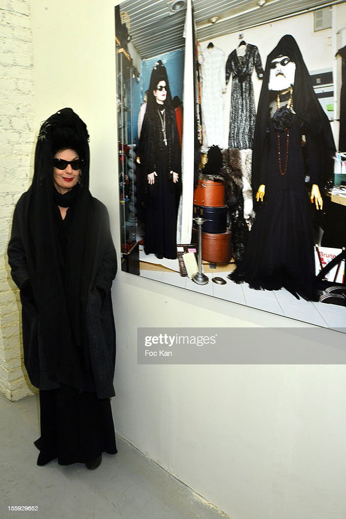 Diane Pernet attends 'Les Parisiennes' - Photo Exhibition Preview at Galerie Clementine De La Feronniere on November 8, 2012 in Paris, France.