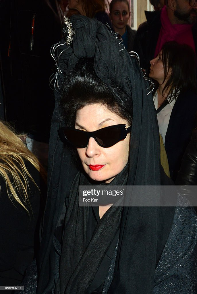 Diane Pernet attends the Jitrois - Front Row - PFW F/W 2013 at Hotel Saint James & Albany on March 6, 2013 in Paris, France.
