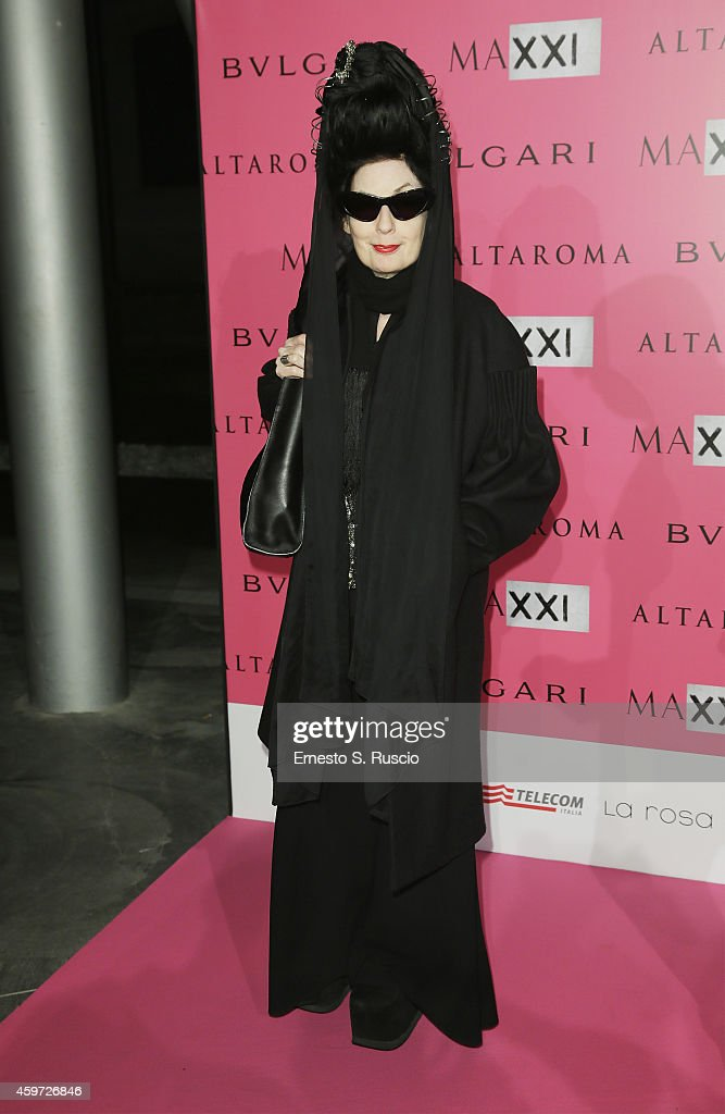 <a gi-track='captionPersonalityLinkClicked' href=/galleries/search?phrase=Diane+Pernet&family=editorial&specificpeople=4347865 ng-click='$event.stopPropagation()'>Diane Pernet</a> attends the MAXXI Gala Dinner photocall at Maxxi Museum on November 29, 2014 in Rome, Italy.