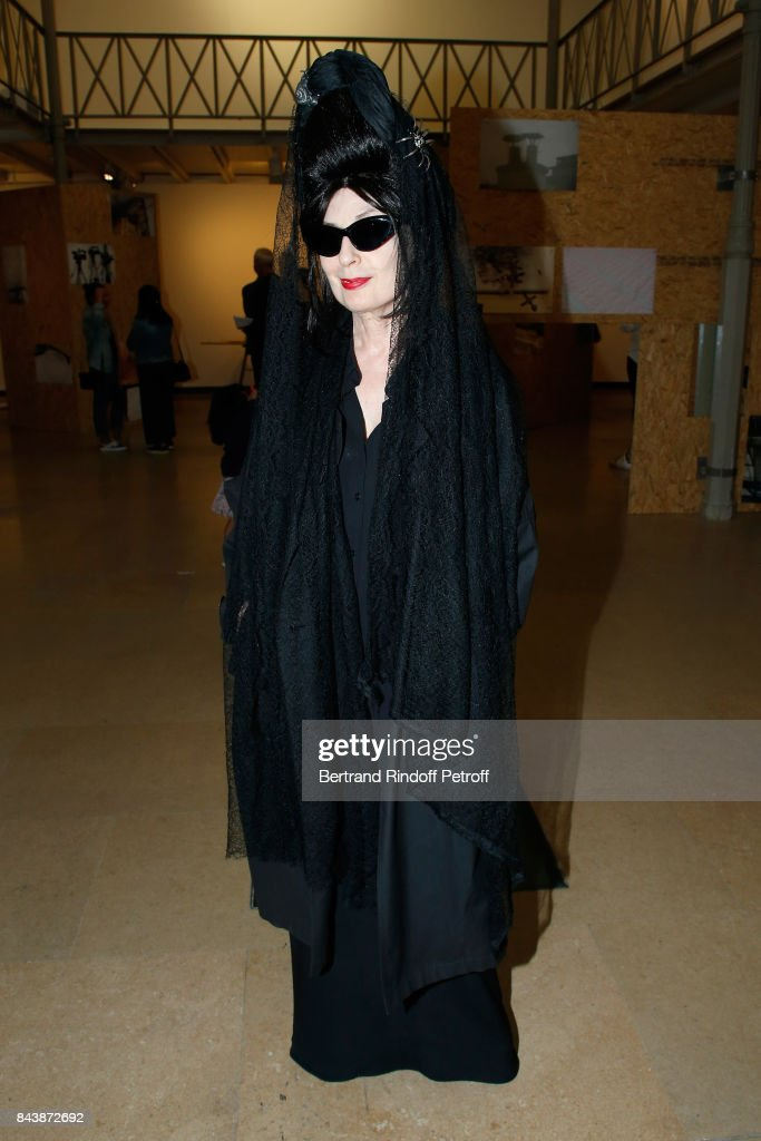 Diane Pernet Attends The Richard Wentworth A La Maison Alaia Exhibition Opening At Azzedine
