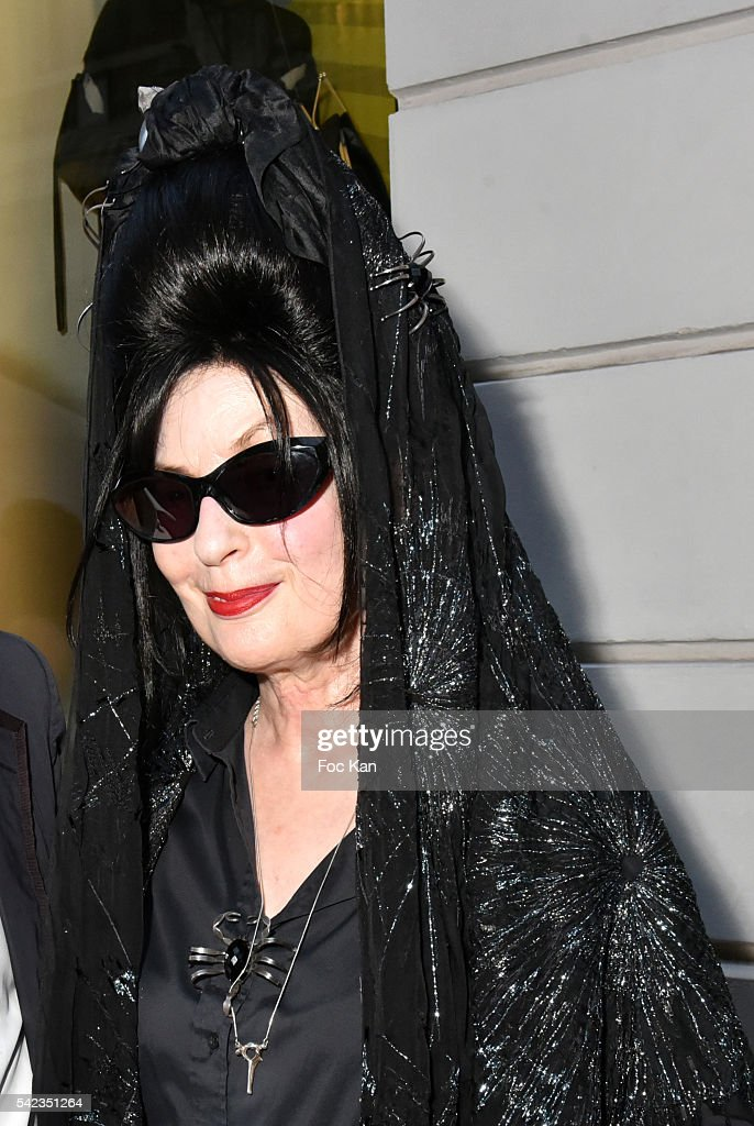 <a gi-track='captionPersonalityLinkClicked' href=/galleries/search?phrase=Diane+Pernet&family=editorial&specificpeople=4347865 ng-click='$event.stopPropagation()'>Diane Pernet</a> attends 'Winter Tales of Summer Bliss' at Sofitel Faubourg Exhibition Preview at Hotel Sofitel Faubourg on June 22, 2016 in Paris, France.