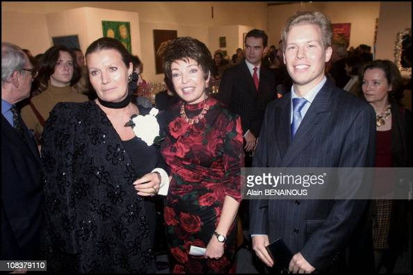 Diane Princess Philippe of Liechtenstein and his son Alexandre in Paris France on December 06 2000