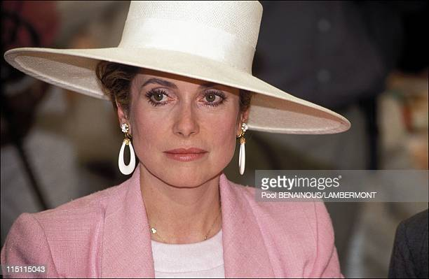 Diane Prize in Chantilly France on June 14 1992 Catherine Deneuve