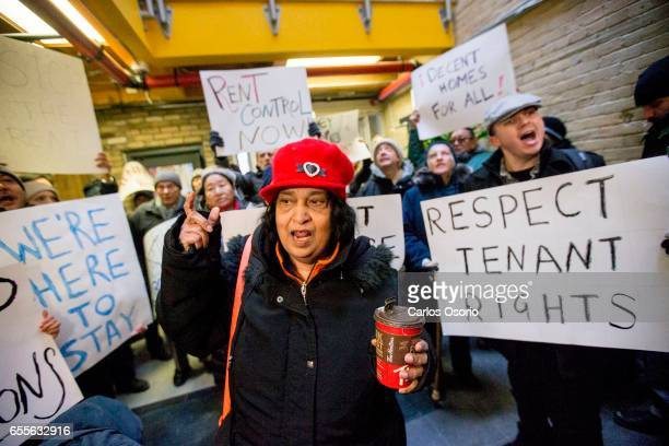 TORONTO ON MARCH Diane Rajaram chants in the lobby of the Metcap Building Tenants from Metcap buildings tried submitting a pile of repair requests to...