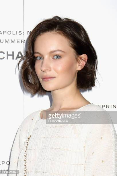 Diane Rouxel attends the launch of Lucia Pica's Chanel SpringSummer 2018 Make up Collection on October 12 2017 in Naples Italy