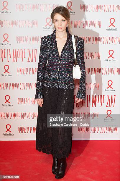 Diane Rouxel attends the Sidaction Gala Dinner 2017 as part of Paris Fashion Week on January 26 2017 in Paris France
