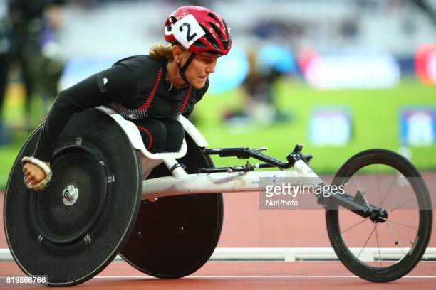 Diane Roy of Canada competeWomen's 800m F54 Final during World Para Athletics Championships at London Stadium in London on July 19 2017
