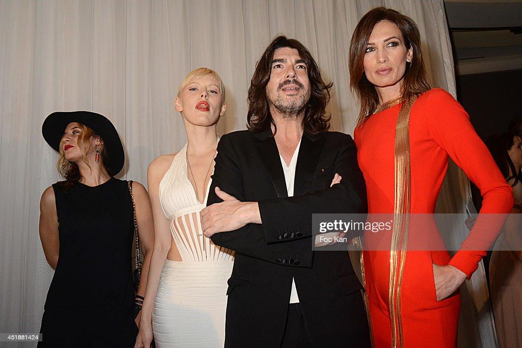 Diane Sagnier Anna Sherbinina Stephane Rolland and Nieves Alvarez attend the Stephane Rolland Show as part of Paris Fashion Week Haute Couture...