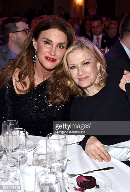 Diane Sawyer and Caitlyn Jenner attend the 27th Annual GLAAD Media Awards at Waldorf Astoria Hotel in New York on May 14 2016 in New York City