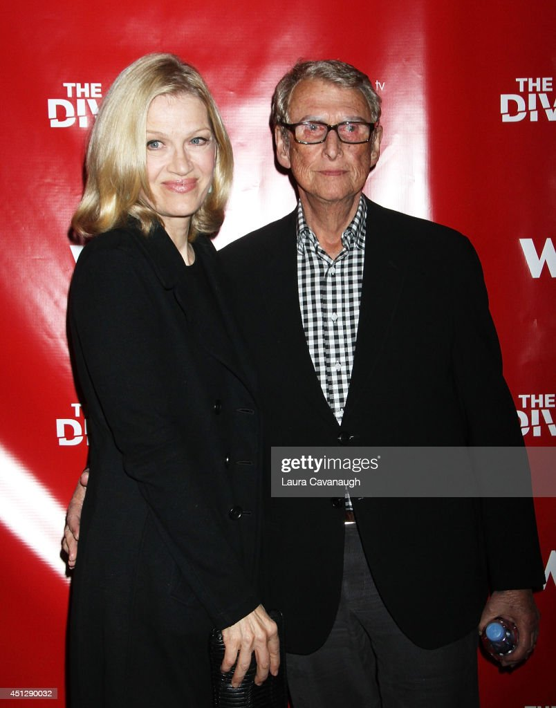 Diane Sawyer and Mike Nichols attend 'The Divide' series premiere at Dolby 88 Theater on June 26, 2014 in New York City.
