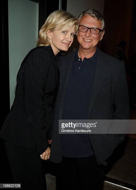 Diane Sawyer and Mike Nichols during Christopher Reeve Foundation and Rodale Host Prelude Party for A Magical Evening at The Newspace in New York...
