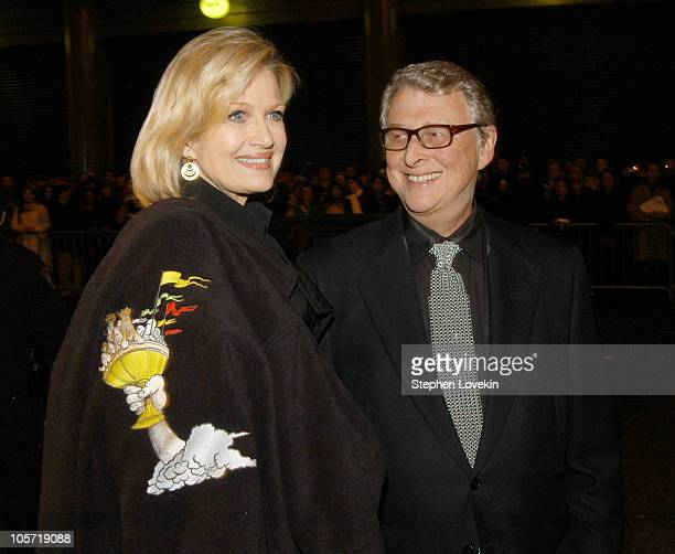 Diane Sawyer and Mike Nichols during 'Monty Python's Spamalot' Broadway Opening Night Arrivals at The Shubert Theatre in New York City New York...