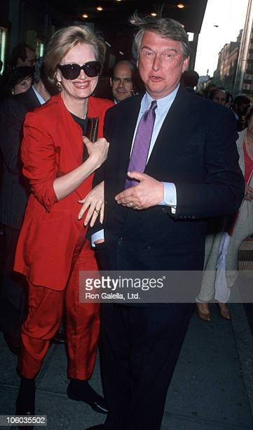 Diane Sawyer and Mike Nichols during 'Passion' New York Broadway Opening Night May 9 1994 at Plymouth Theater in New York City New York United States