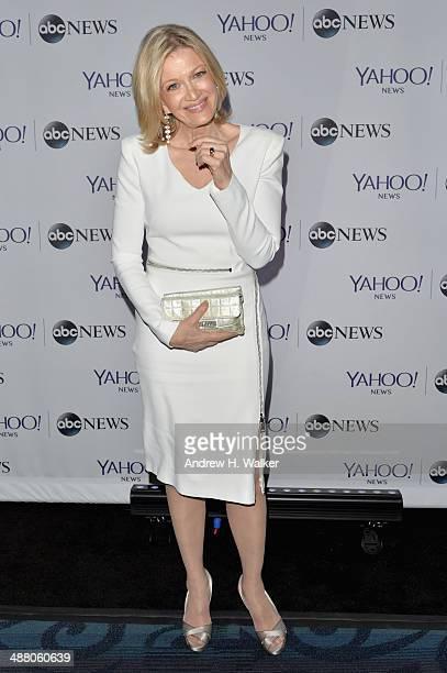 Diane Sawyer attends the Yahoo News/ABCNews PreWhite House Correspondents' dinner reception preparty at Washington Hilton on May 3 2014 in Washington...