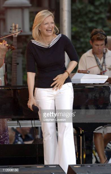 Diane Sawyer during Jessica Simpson Performs on the 2005 'Good Morning America' Concert Series at ABC Studios in New York City New York United States