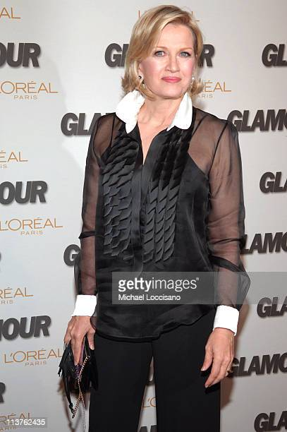 Diane Sawyer presenter during Glamour Magazine Salutes The 2005 Women of the Year Arrivals at Avery Fisher Hall in New York City New York United...