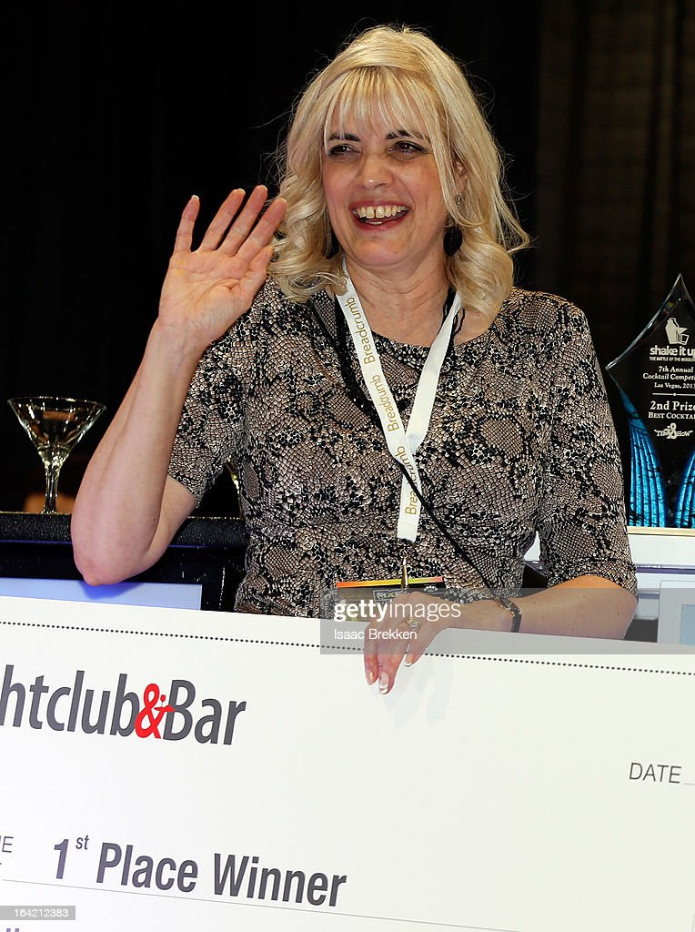 Diane Silvey appears after winning first place in the Shake it Up! bartender competition at the 28th annual Nightclub & Bar Convention and Trade Show at the Las Vegas Convention Center on March 20, 2013 in Las Vegas, Nevada.