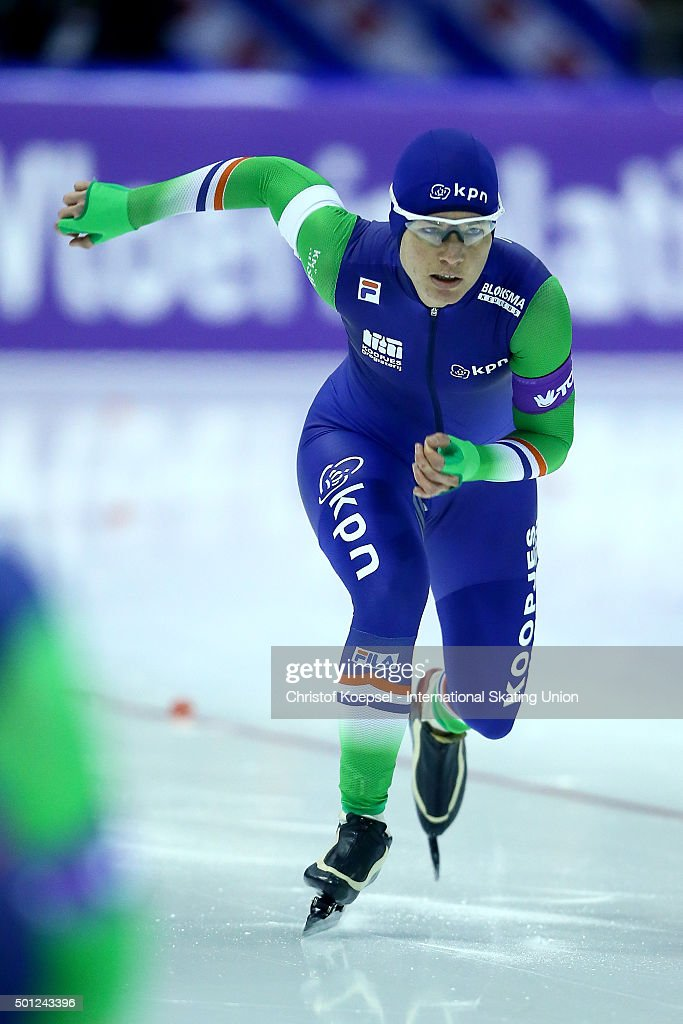 <a gi-track='captionPersonalityLinkClicked' href=/galleries/search?phrase=Diane+Valkenburg&family=editorial&specificpeople=4877218 ng-click='$event.stopPropagation()'>Diane Valkenburg</a> of Netherlands skates during the ladies 1500m during day 3 of ISU Speed Skating World Cup at Thialf Ice Arena on December 13, 2015 in Heerenveen.
