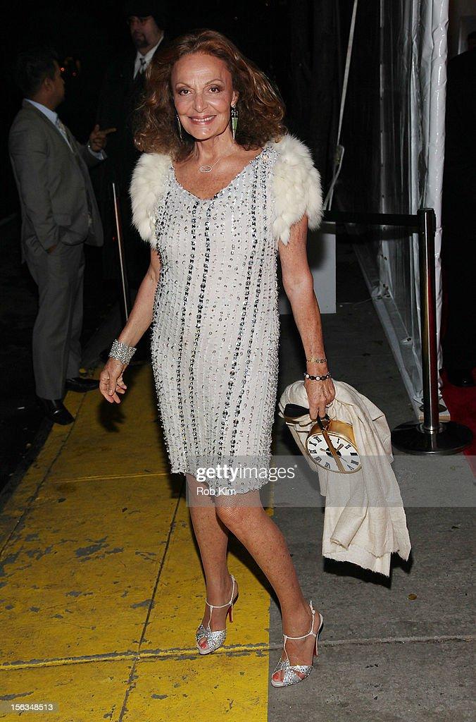 Diane von FŸrstenberg arrives at The Ninth Annual CFDA/Vogue Fashion Fund Awards at 548 West 22nd Street on November 13, 2012 in New York City.
