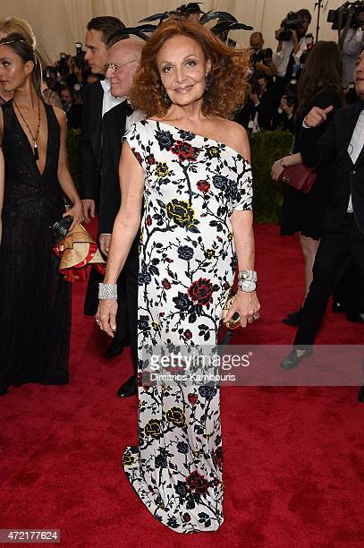 Diane von Fürstenberg attends the 'China Through The Looking Glass' Costume Institute Benefit Gala at the Metropolitan Museum of Art on May 4 2015 in...