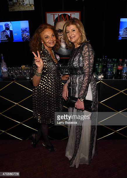 Diane von Furstenberg and Arianna Huffington attend TIME 100 Gala TIME's 100 Most Influential People In The World on April 21 2015 in New York City