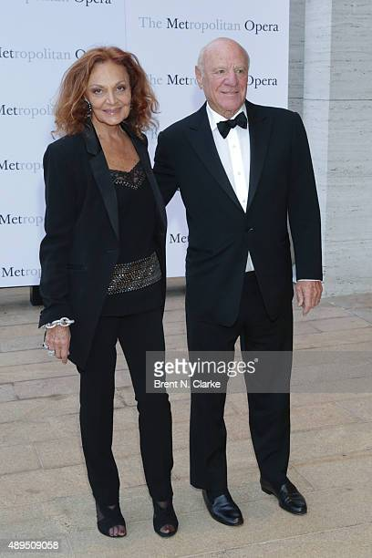Diane von Furstenberg and Barry Diller arrive for the Metropolitan Opera's 20152016 season opening night performance of 'Otello' held at The...
