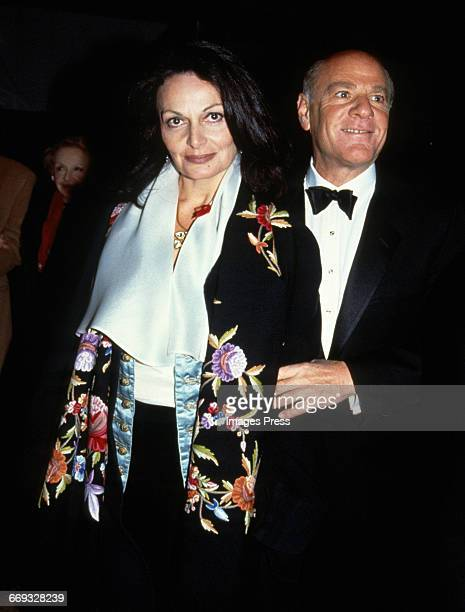 Diane von Furstenberg and Barry Diller attend the 12th Annual Council of Fashion Designers of America Awards at Lincoln Center circa 1993 in New York...