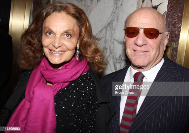 Diane von Furstenberg and Barry Diller attend the Broadway opening night of 'Death Of A Salesman' at the Barrymore Theatre on March 15 2012 in New...