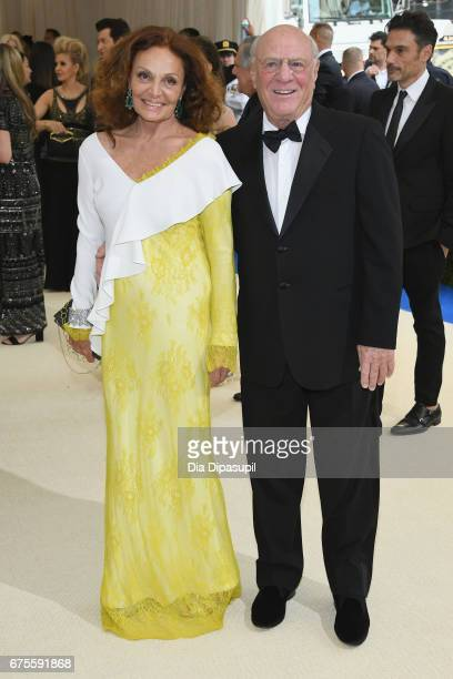 Diane von Furstenberg and Barry Diller attend the 'Rei Kawakubo/Comme des Garcons Art Of The InBetween' Costume Institute Gala at Metropolitan Museum...
