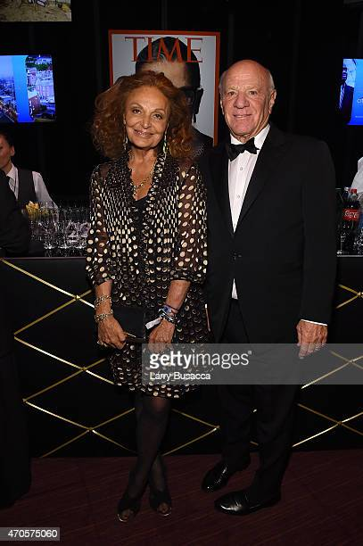 Diane von Furstenberg and Barry Diller attend the TIME 100 Gala TIME's 100 Most Influential People In The World on April 21 2015 in New York City