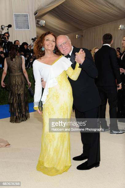Diane Von Furstenberg and Barry Diller attends 'Rei Kawakubo/Comme des Garcons Art Of The InBetween' Costume Institute Gala Arrivals at Metropolitan...