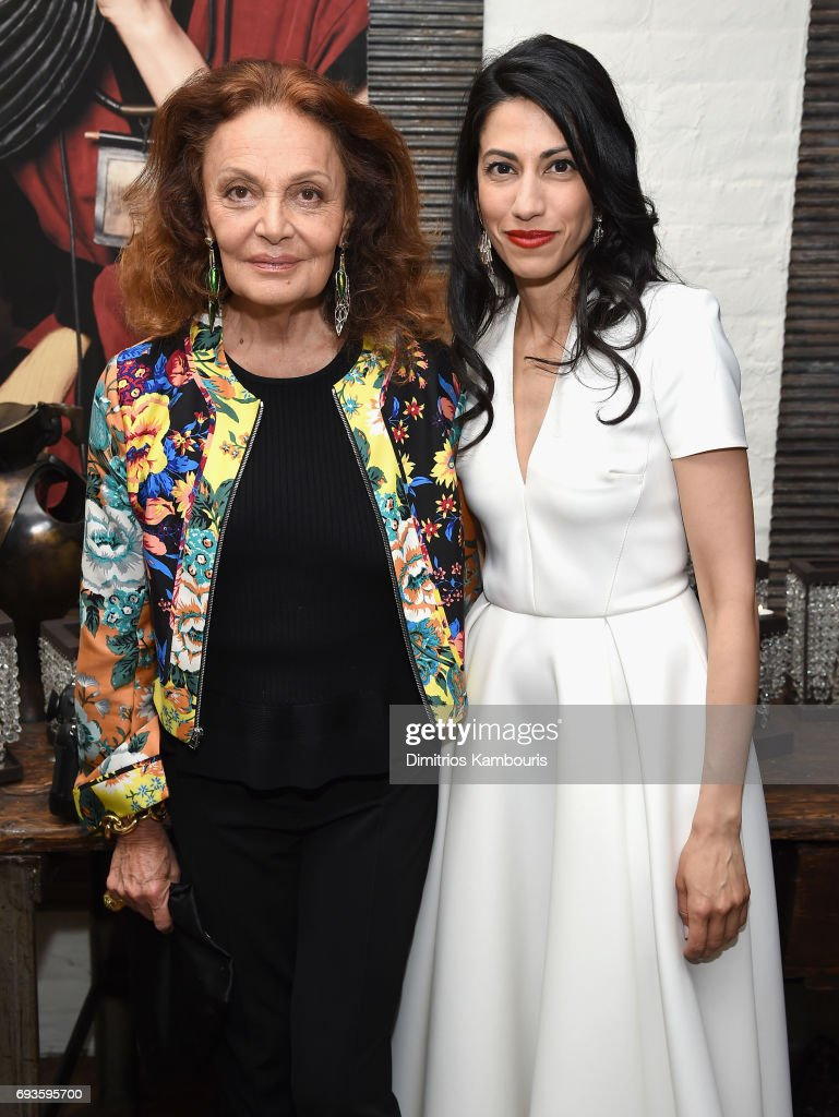 Diane von Furstenberg and Huma Abedin attend the 2017 Stephan Weiss Apple Awards on June 7, 2017 in New York City.