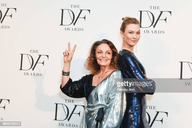 Diane von Furstenberg and Karlie Kloss attends The 8th Annual DVF Awards at United Nations on April 6 2017 in New York City