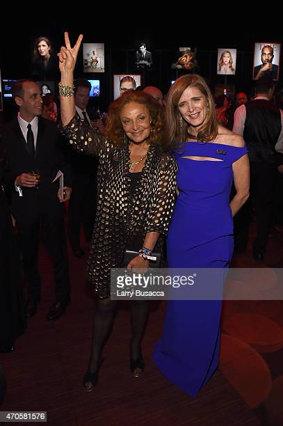 Diane von Furstenberg and Samantha Power attend TIME 100 Gala TIME's 100 Most Influential People In The World on April 21 2015 in New York City