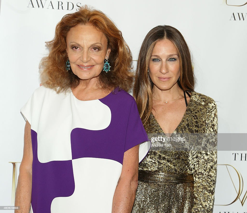 Diane von Furstenberg (L) and Sarah Jessica Parker attend the 2014 DVF Awards on April 4, 2014 in New York City.