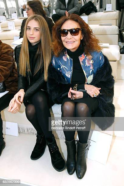 Diane Von Furstenberg and Talita Von Furstenberg attend the Chanel Haute Couture Spring Summer 2017 show as part of Paris Fashion Week on January 24...