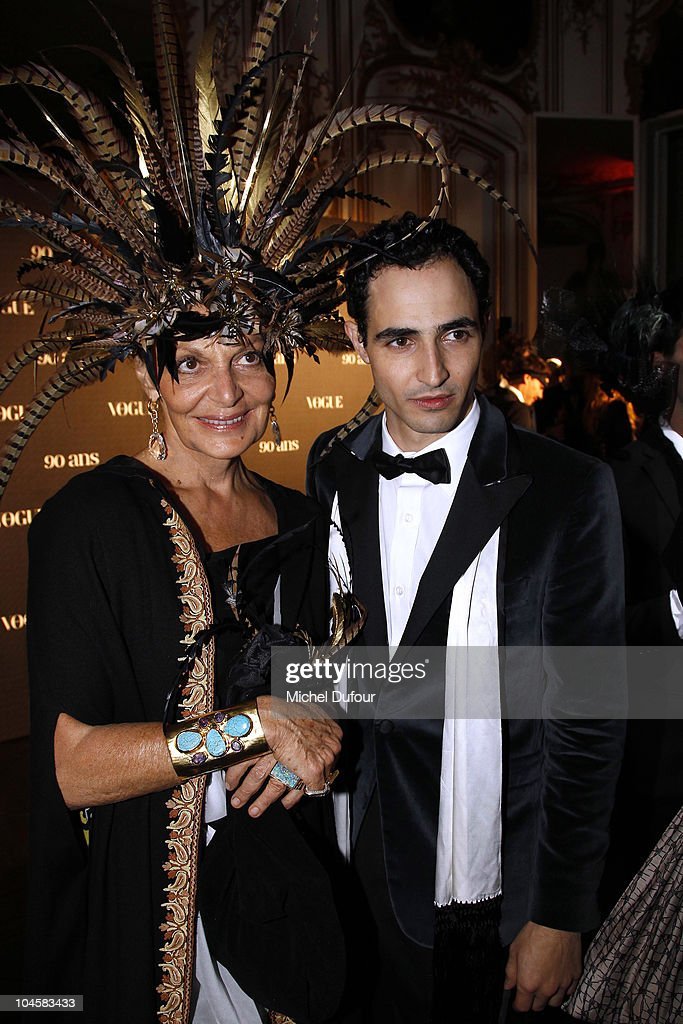 Diane von Furstenberg and Zac Posen attend Vogue 90th Anniversary Party as part of Ready to Wear Spring/Summer 2011 Paris Fashion Week at Hotel Pozzo...