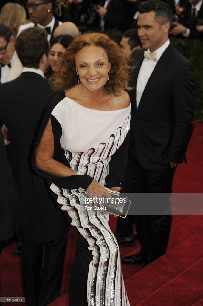 Diane Von Furstenberg attends 'Charles James: Beyond Fashion' Costume Institute Gala at the Metropolitan Museum of Art on May 5, 2014 in New York City.