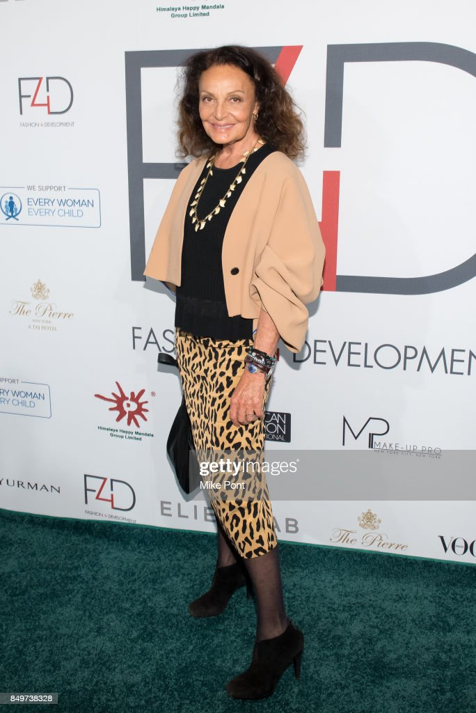 Diane von Furstenberg attends Fashion 4 Development's 7th Annual First Ladies Luncheon at The Pierre Hotel on September 19, 2017 in New York City.