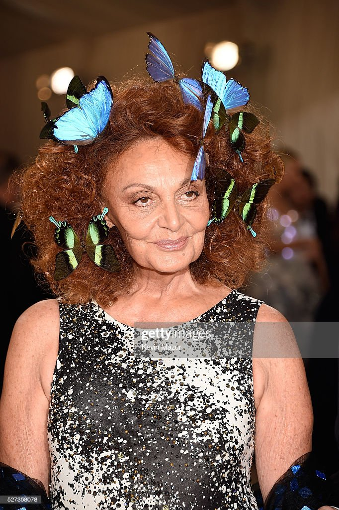 Diane Von Furstenberg attends 'Manus x Machina: Fashion In An Age Of Technology' Costume Institute Gala at Metropolitan Museum of Art on May 2, 2016 in New York City.