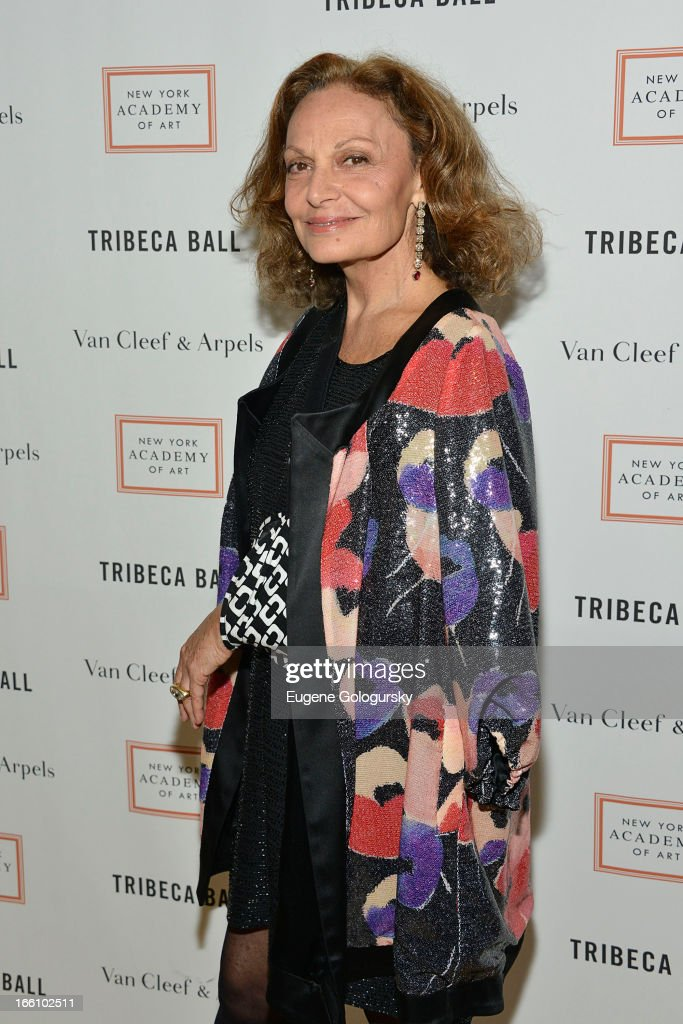 Diane Von Furstenberg attends the 2013 Tribeca Ball at New York Academy of Art on April 8, 2013 in New York City.