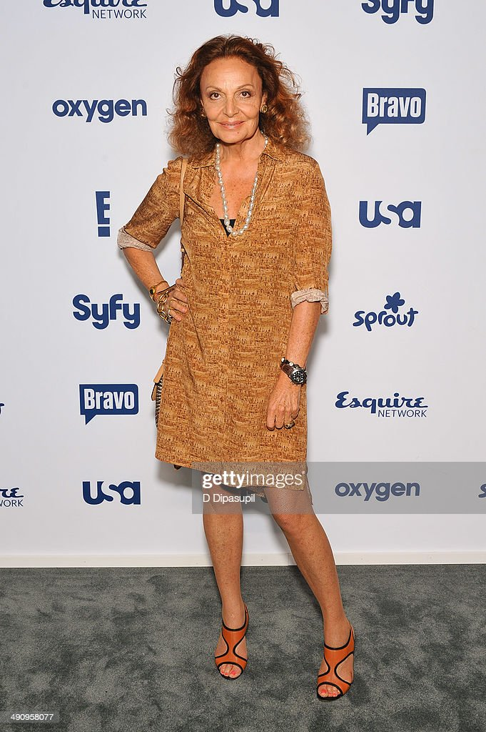 Diane von Furstenberg attends the 2014 NBCUniversal Cable Entertainment Upfronts at The Jacob K Javits Convention Center on May 15 2014 in New York...