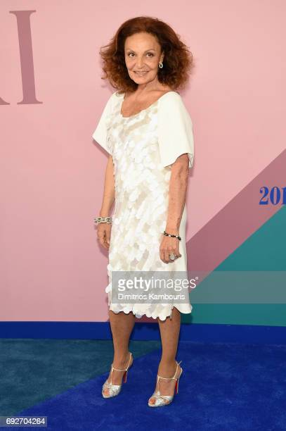 Diane von Furstenberg attends the 2017 CFDA Fashion Awards at Hammerstein Ballroom on June 5 2017 in New York City