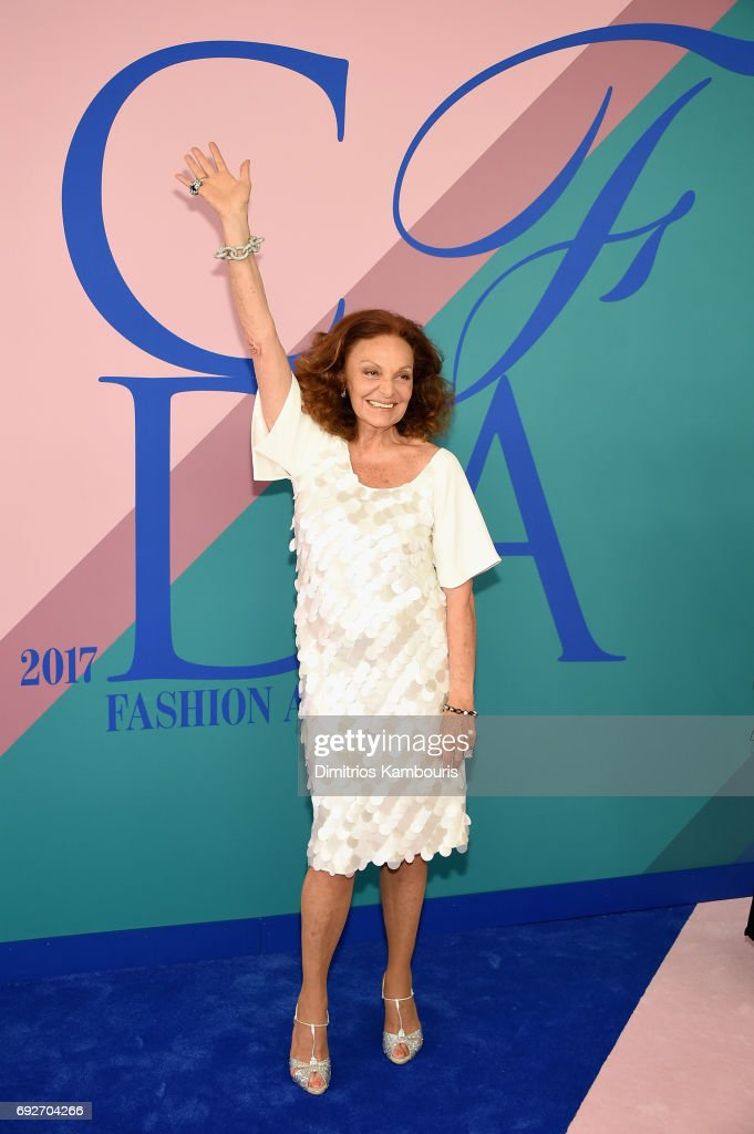 Diane von Furstenberg attends the 2017 CFDA Fashion Awards at Hammerstein Ballroom on June 5, 2017 in New York City.
